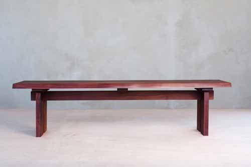 Masaya & Co. Gavilana Bench Live Edge Dining Bench Masaya & Co.