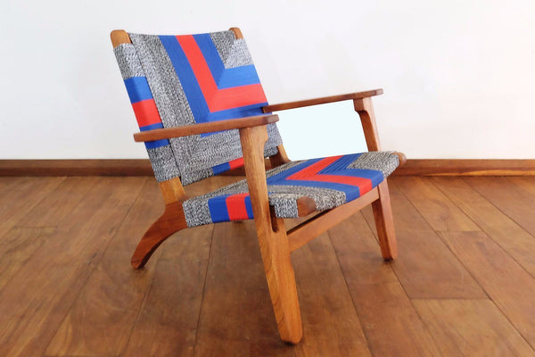 Masaya & Co. Masaya Arm Chair, Ometepe Pattern Lounge Chair Masaya & Co. Ometepe Manila Royal Mahogany