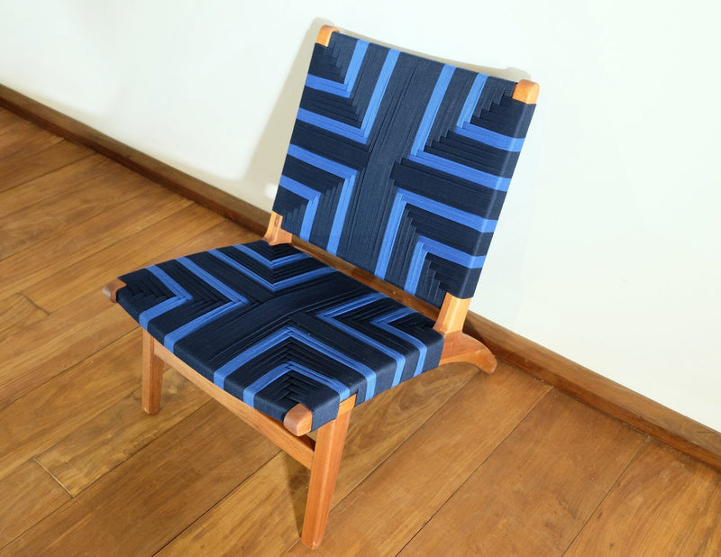Masaya & Co. Masaya Lounge Chair, Midnight Blue Pattern Lounge Chair: In-Stock Masaya & Co.