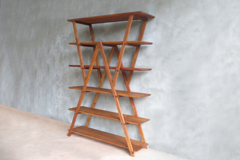 Masaya & Co. Watson Standing Shelves Standing Shelves Masaya & Co. Royal Mahogany
