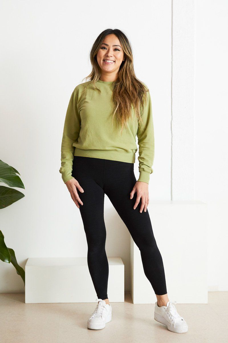 Max Organic Cotton Sweatshirt - Moss Sweatshirt North of West