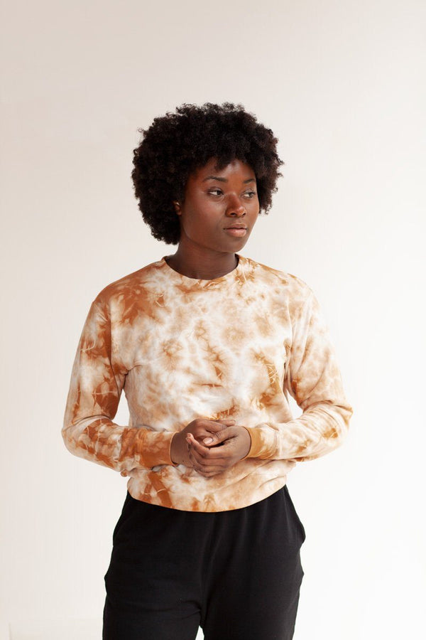Max Tie Dye Organic Cotton Sweatshirt - Amber Sweatshirt North of West