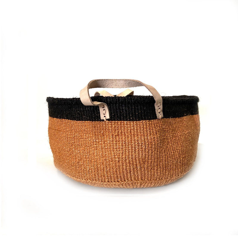 Mbare Floor Basket with Leather Handles Home Decor Mbare Low