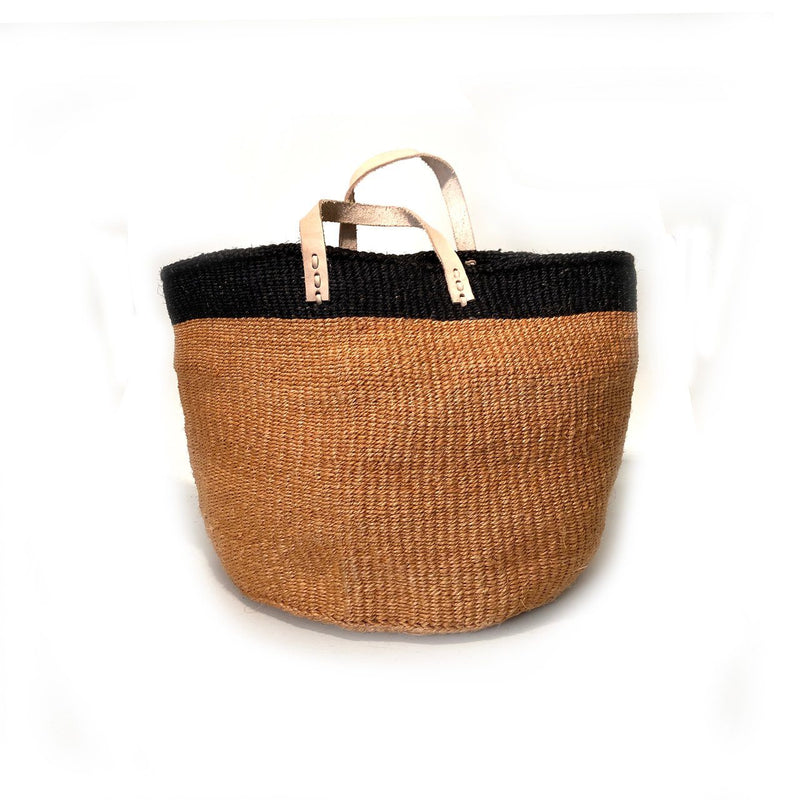 Mbare Floor Basket with Leather Handles Home Decor Mbare Tall