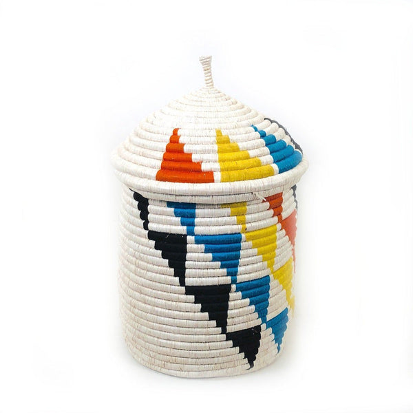 Mbare Inyabu Medium Basket - Colorful Triangles Home Decor Mbare