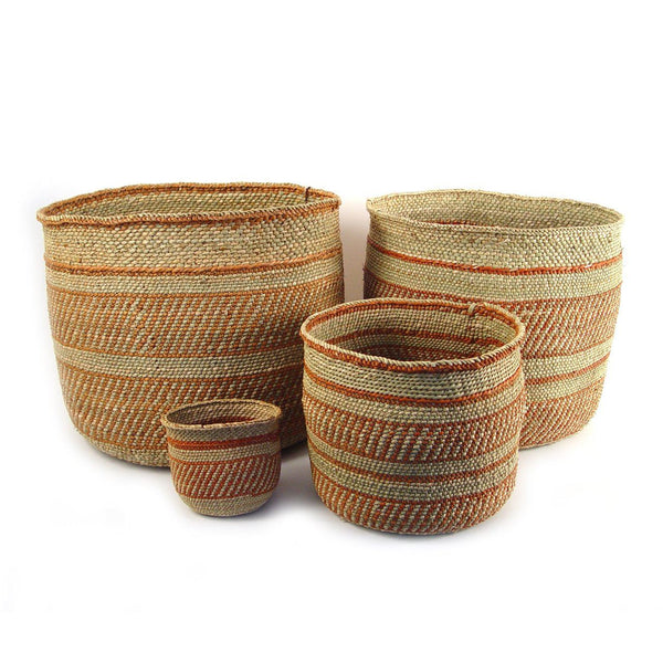 Mbare Iringa Basket - Auburn Stripe Home Decor Mbare