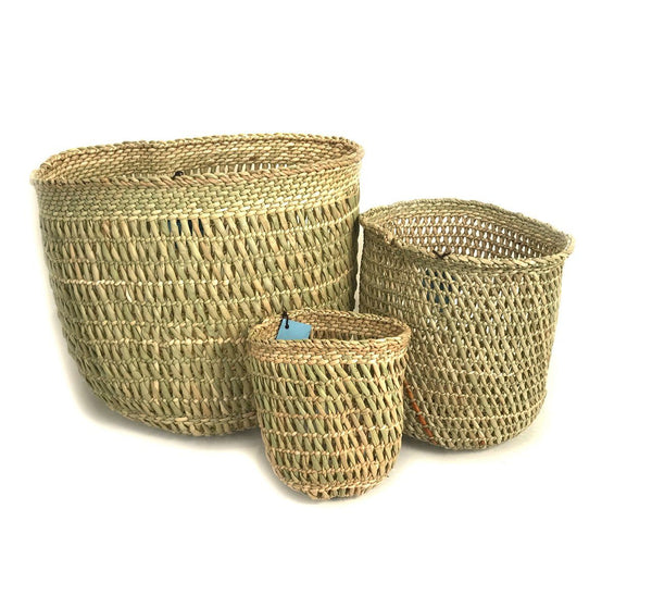 Mbare Iringa Basket - Natural Open Weave Home Decor Mbare