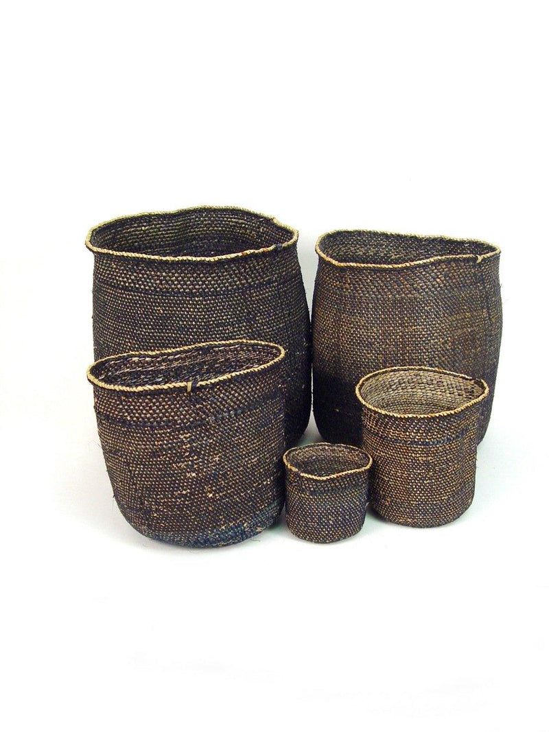 Mbare Iringa Baskets - Light Black Home Decor Mbare