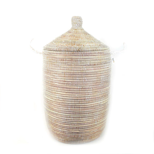 Mbare Large Basket - White Home Decor Mbare