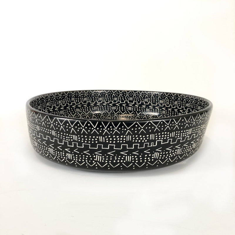 Mbare Large Mud Cloth Black Bowl Home Decor Mbare