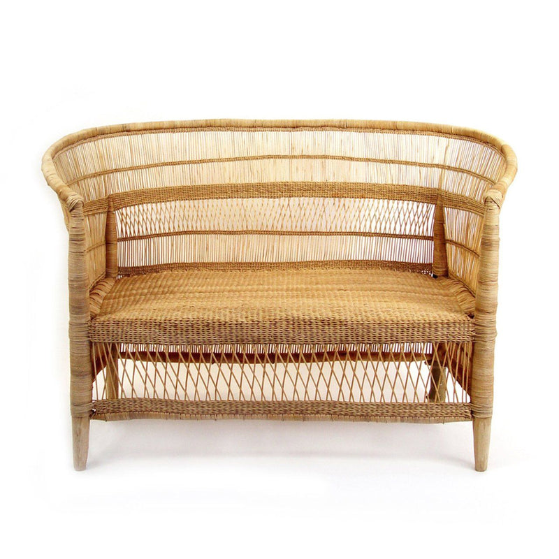 Mbare Malawi Cane Loveseat - Natural Furniture Mbare