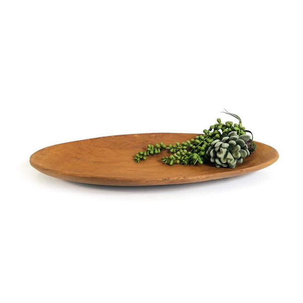 Mbare Oval Teak Serving Platter Home Decor Mbare
