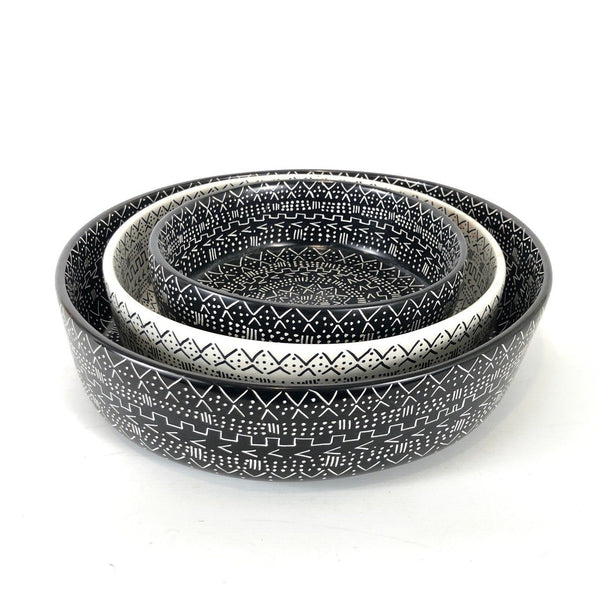 Mbare Small Mud Cloth Black Bowl Home Decor Mbare