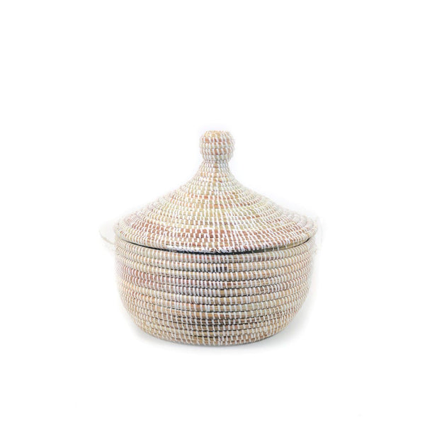Mbare Small Tabletop Basket - White Home Decor Mbare