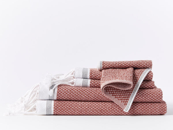 Mediterranean Towels - Rosehip / Shadow Bath Coyuchi