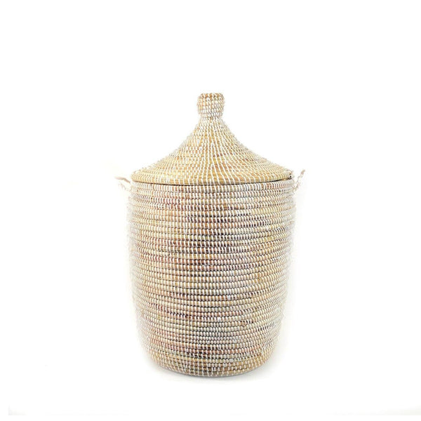 Medium White Basket Mbare