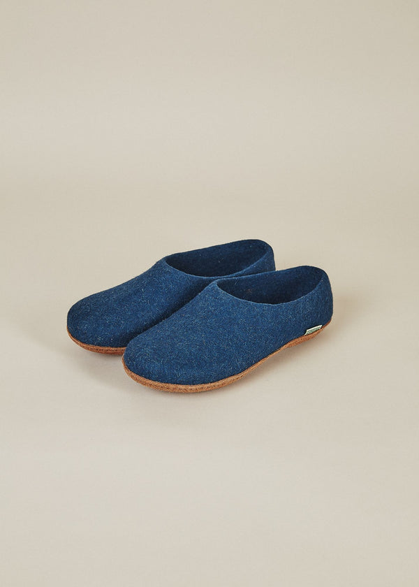 Men's All Natural Molded Sole High Back Slippers - Navy Men's Shoes Kyrgies