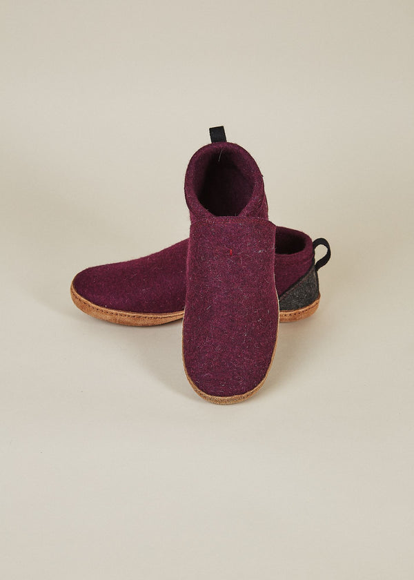 Men's All Natural Tengries Slippers - Plum Men's Shoes Kyrgies