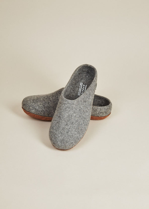 Men's Molded Sole and Low Back Slippers - Gray Men's Shoes Kyrgies