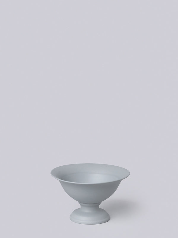 Middle Kingdom Footed Porcelain Vase - Steel Grey Home Goods Middle Kingdom