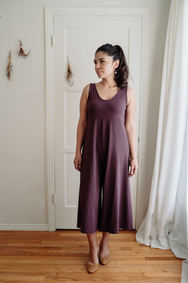 Mien Lakeside Wide Leg Jumpsuit - Dark Plum JUMPSUIT Mien