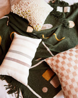 Minna Abstract Throw Hunter Green Blanket Minna-5009899290687