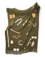 Minna Abstract Throw Hunter Green Blanket Minna-5010124308543