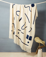 Minna Abstract Throw Indigo Blanket Minna-5009434083391
