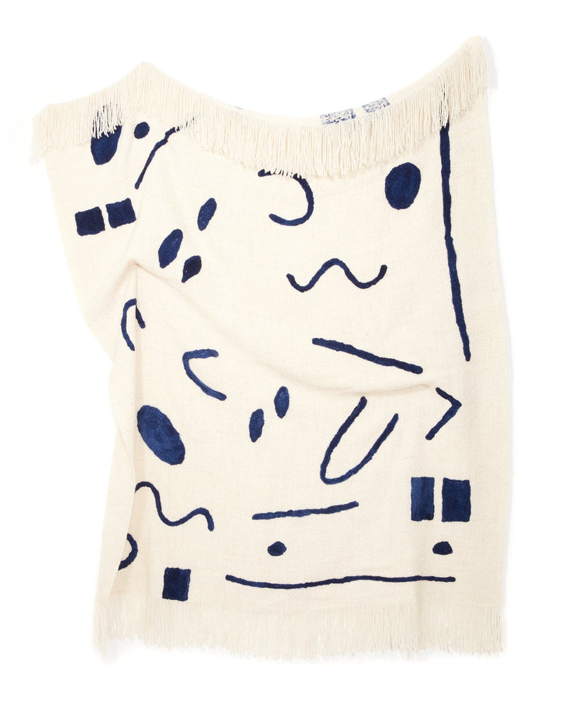 Minna Abstract Throw Indigo Blanket Minna