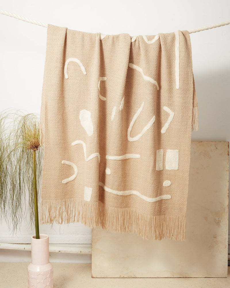 Minna Abstract Throw Oat Blanket Minna