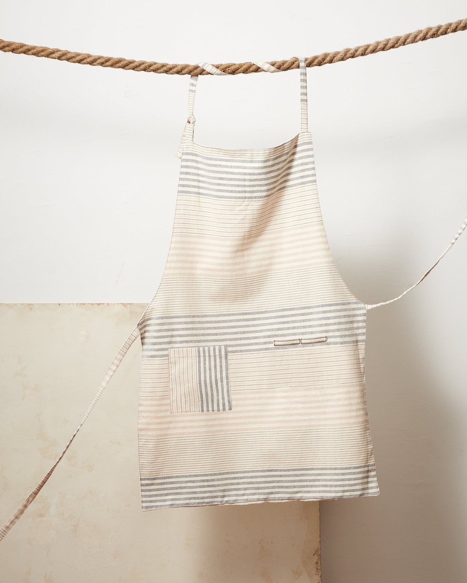 Minna Apricot Stripe Apron Kitchen Textiles Minna