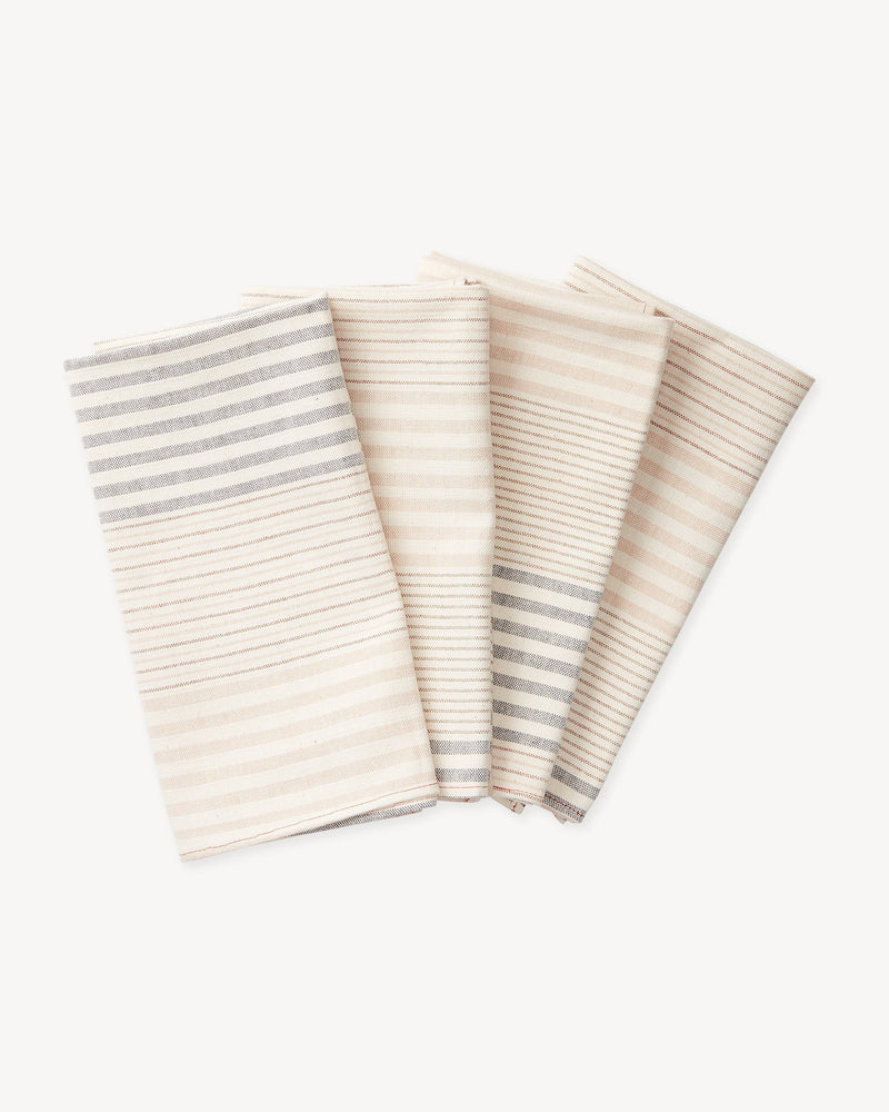 Minna Apricot Stripe Napkins Kitchen Textiles Minna