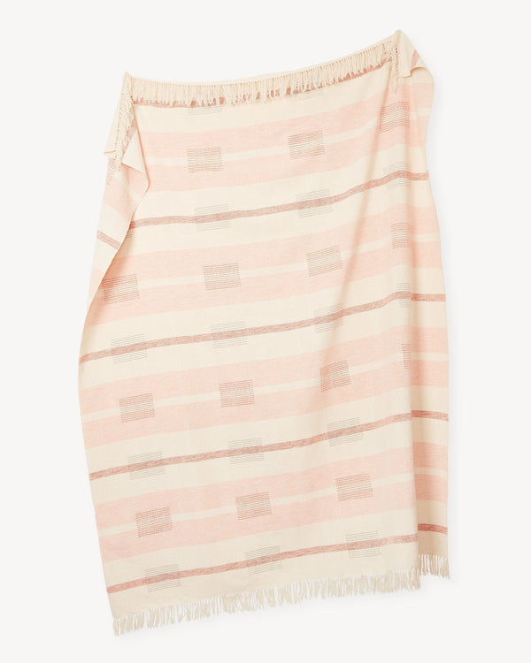 Minna Blocks Throw Peach Blanket Minna
