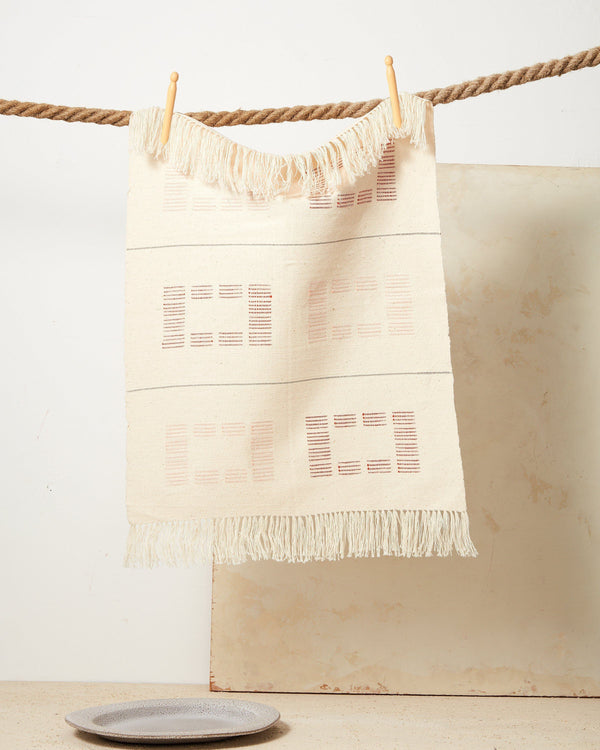 Minna Blocks Towel Rust Kitchen Textiles Minna