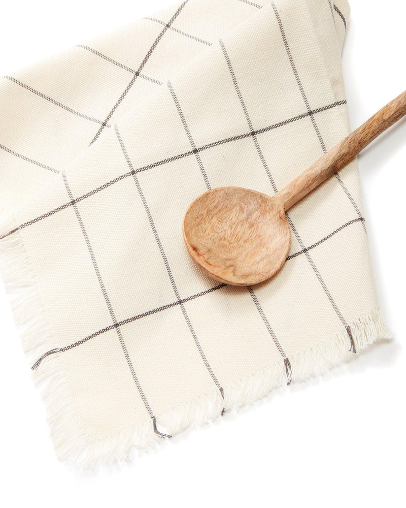 Minna Cream Grid Napkin Kitchen Textiles Minna