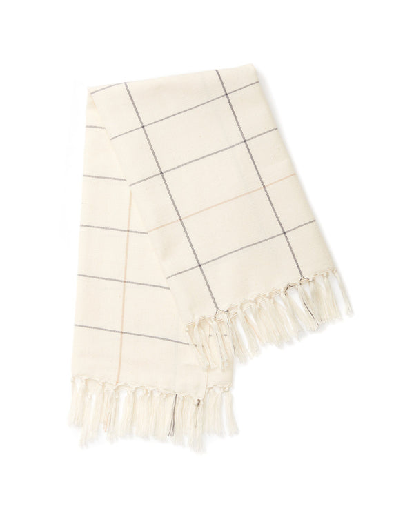 Minna Cream Grid Towel Kitchen Textiles Minna