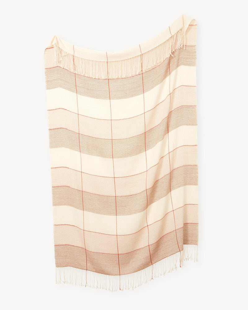 Minna Grid Throw Camel Blanket Minna