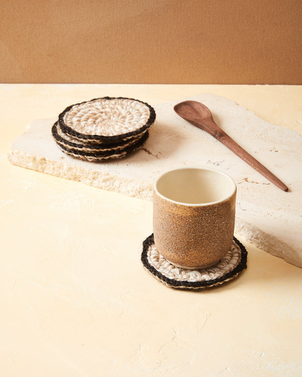 Minna Heathered Coasters - Light, Set of 2 Kitchen Textiles Minna