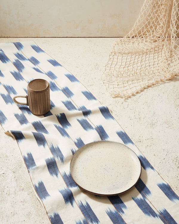 Minna Ikat Runner Indigo Kitchen Textiles Minna