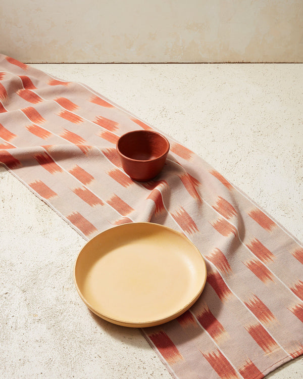 Minna Ikat Runner Rust Kitchen Textiles Minna