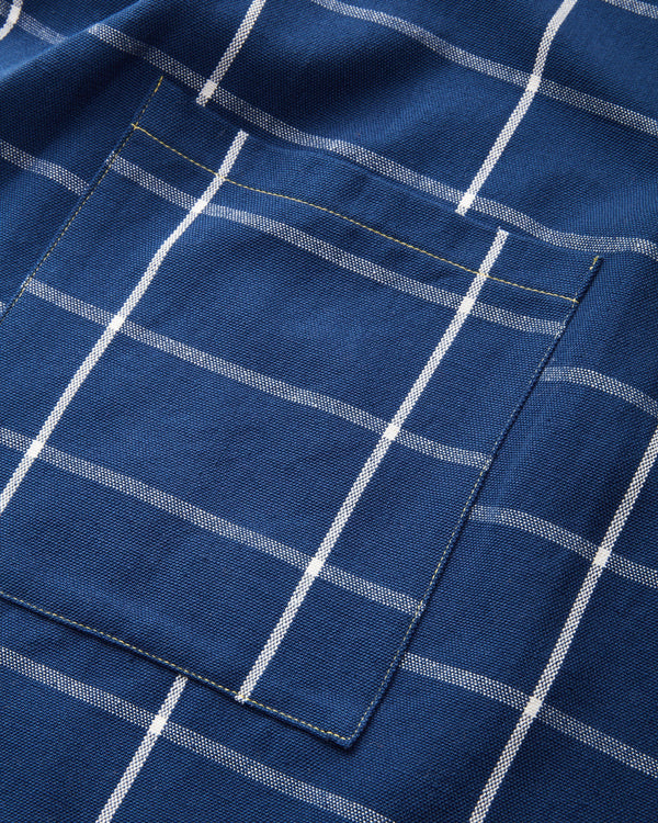 Minna Indigo Grid Apron Kitchen Textiles Minna