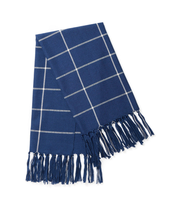 Minna Indigo Grid Towel Kitchen Textiles Minna