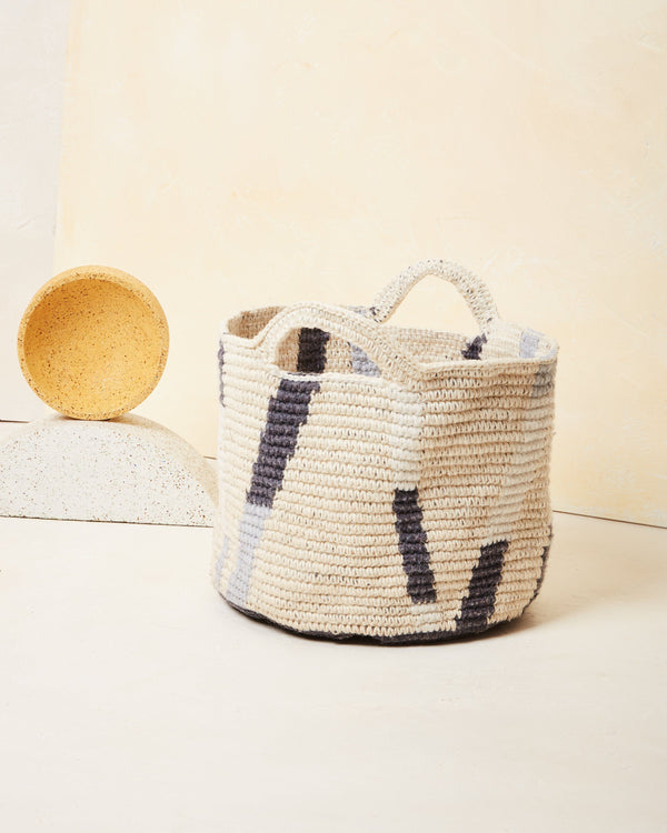 Minna Lines Basket - Medium Basket Minna