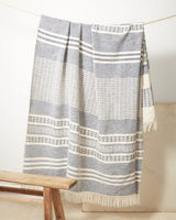 Minna Marta Throw Blue Blanket Minna-5010515329087