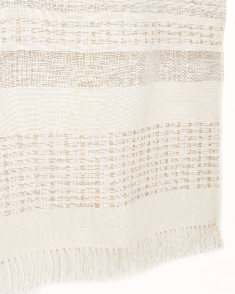 Minna Marta Throw Cream Blanket Minna