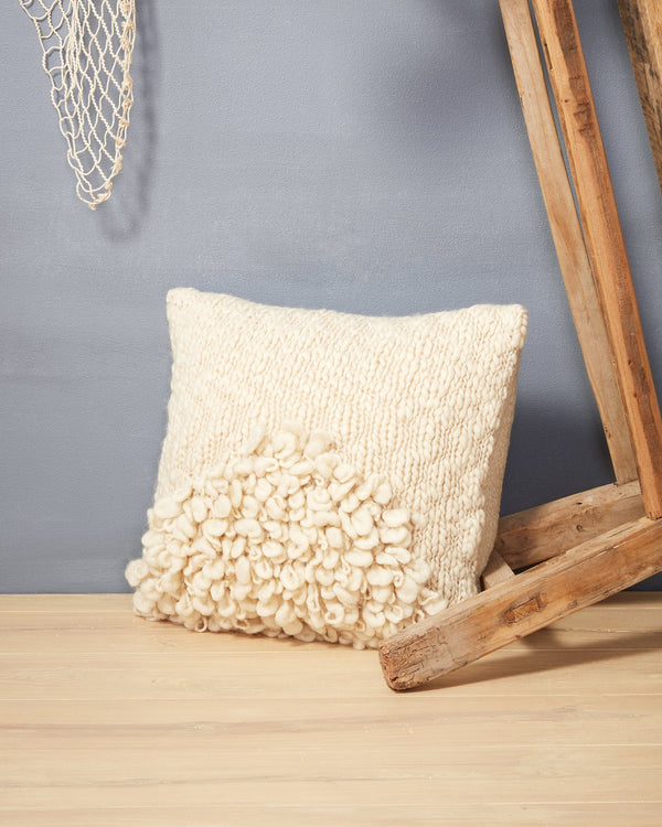 Minna Moon Shag Pillow Cream Pillows Minna