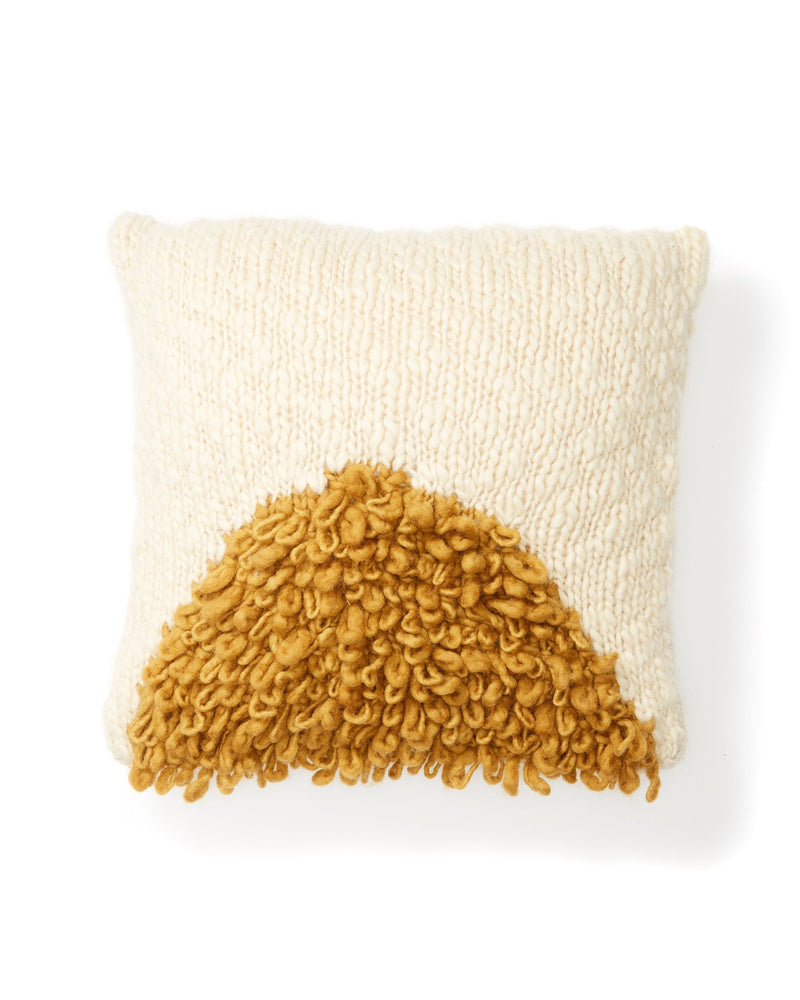 Minna Moon Shag Pillow Gold Pillows Minna