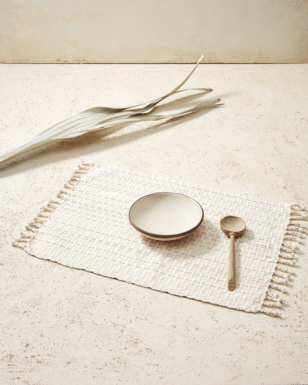 Minna Panalito Placemat Cream Kitchen Textiles Minna