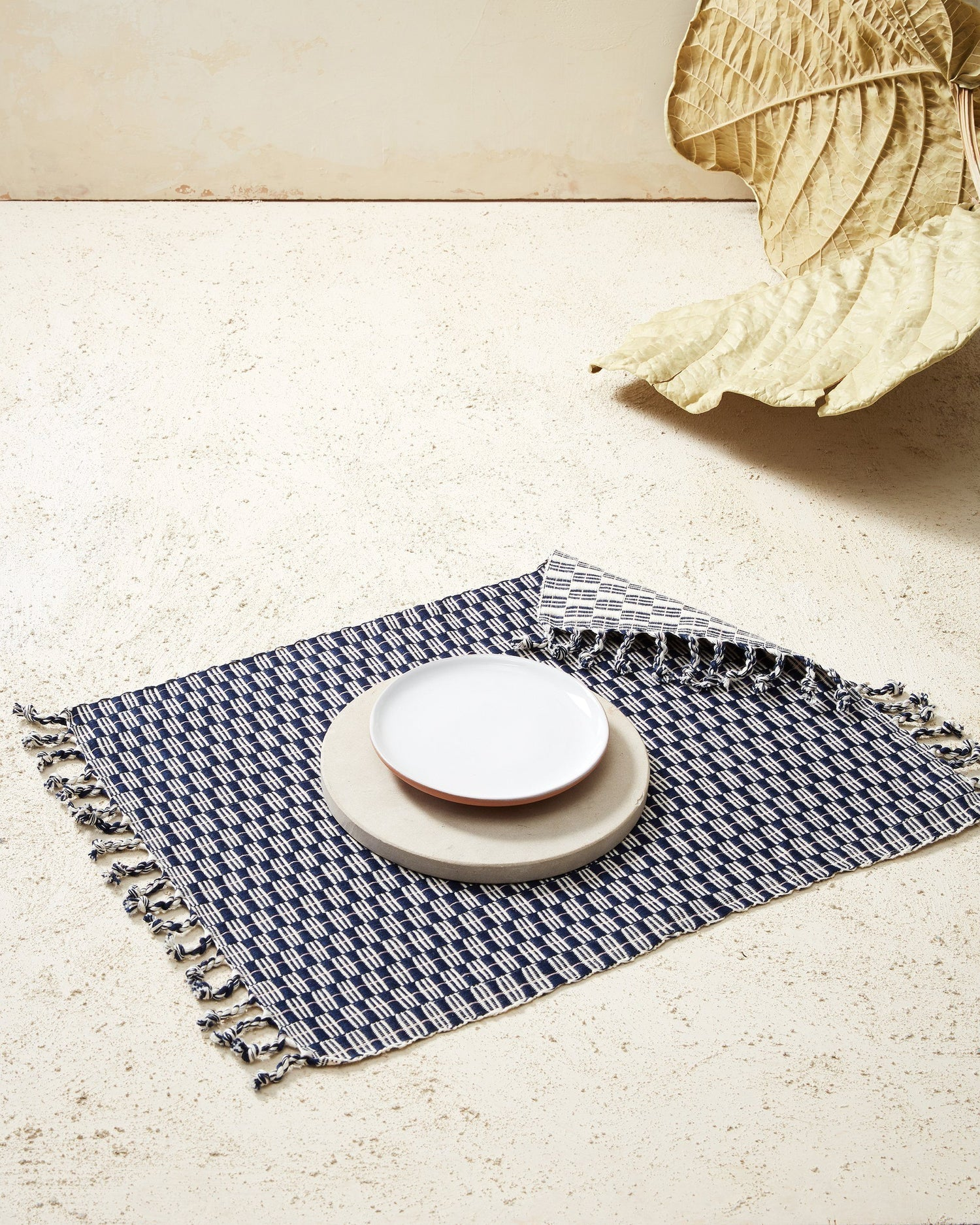 Minna Panalito Placemat Indigo Kitchen Textiles Minna