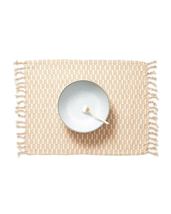 Minna Panalito Placemat Peach Kitchen Textiles Minna